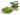 Puukengät Butterfly Vihreä 5 cm